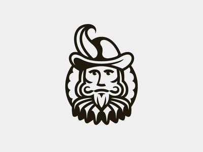 Gentleman logo design identity branding collar hat line man face portrait symbol mark logo