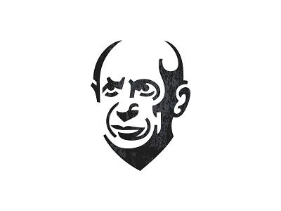 Pablo pablo picasso head minimal portrait symbol mark logo