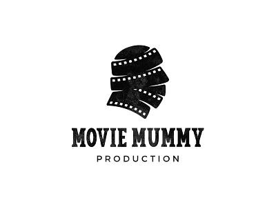 Movie Mummy strips mummy production movie film symbol mark logo
