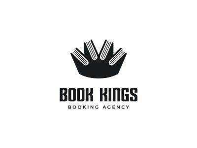 Book booking book crown king symbol mark logo