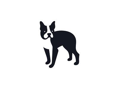 Dog brand identity branding negative space dog animal symbol mark logo