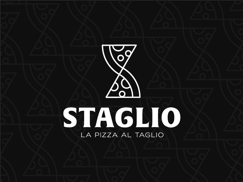 Staglio identity branding lettermart monogram restaurant pizza food symbol mark logo