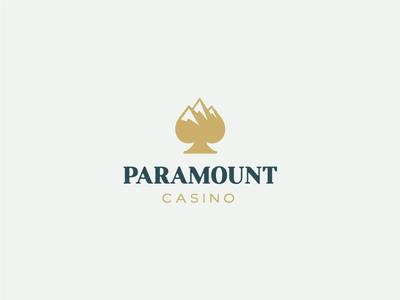 Paramount Casino gamble spade identity branding casino mountain mount symbol mark logo