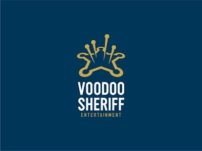 Voodoo Sheriff pins doll wildwest sheriff star voodoo identity branding mark symbol logo