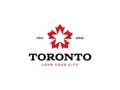 Toronto negative space logo beer brew star maple leaf canada toronto negative space identity branding mark symbol logo