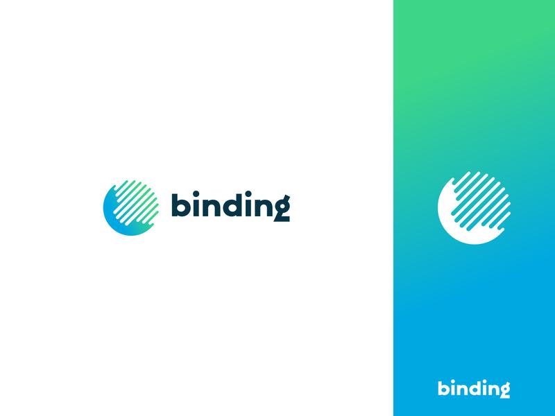 Binding negative space communication binding technology telephone phone identity branding mark symbol logo