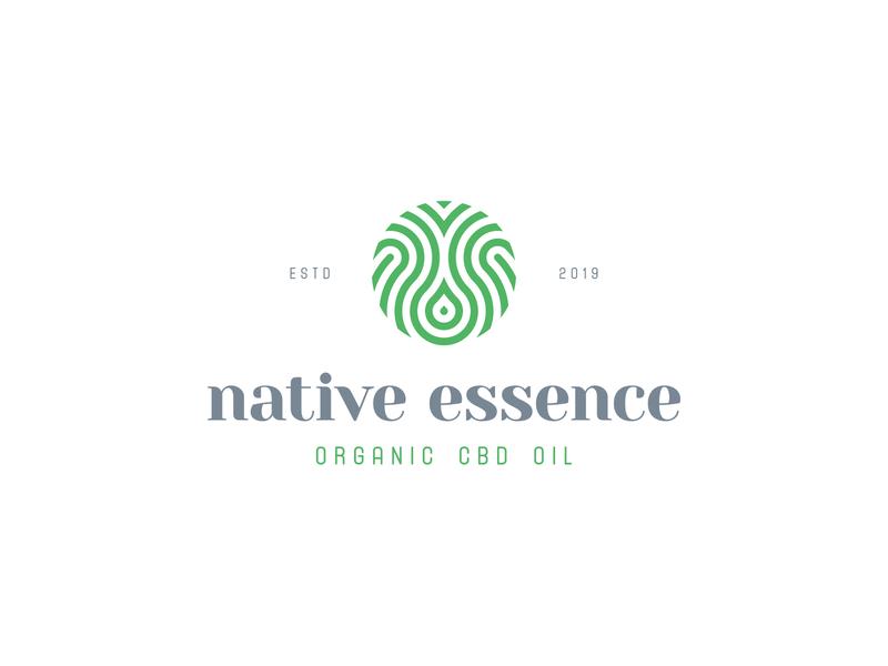 Native Essence essence marijuana cannabis cbd nature organic geometic identity branding mark symbol logo