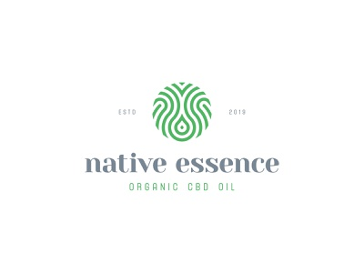 Native Essence essence marijuana cannabis cbd nature organic geometic identity branding mark symbol logo
