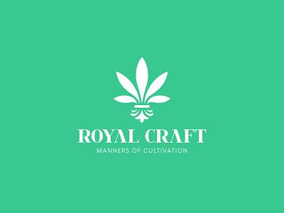 Royal Craft cultivation cbd noble royal marijuana cannabis identity branding mark symbol logo