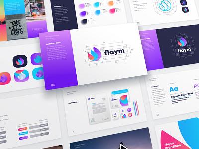 Flaym Presentation Tempates brandguide brandbook creativemarket ui8 templates identity branding