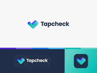 Tapcheck colors payment app app tap check paycheck payment identity branding mark symbol logo