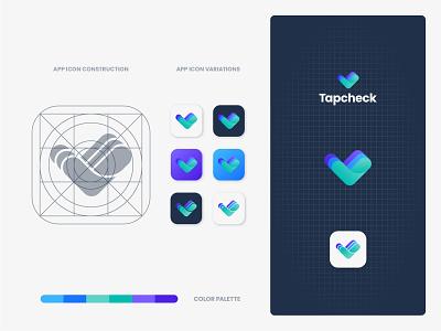 Tapcheck Icon icon app paycheck payment check tap identity branding mark symbol logo