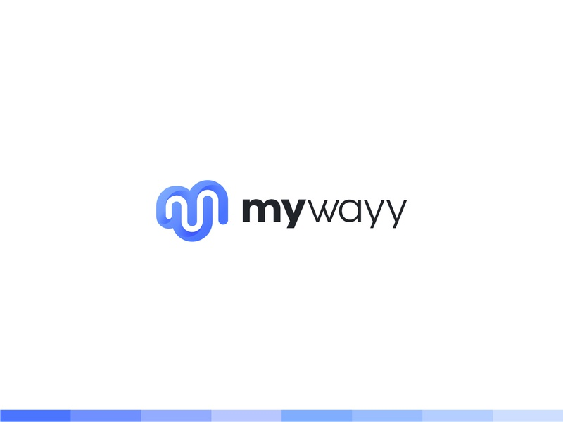 MyWayy goals growth way monogram planner habits app design identity branding mark symbol logo