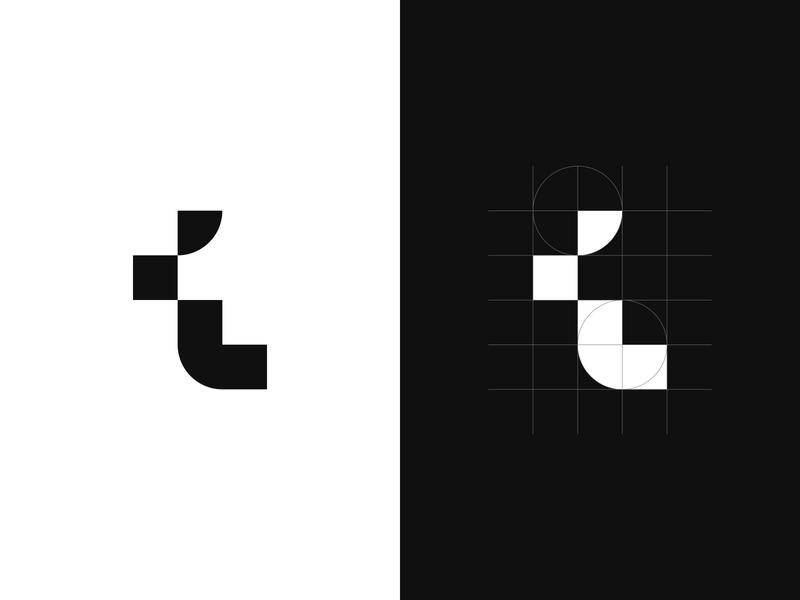 t1 negative space logo negative-space negativespace monogram negative space mark symbol logo