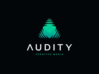 Audity monogram soundwave sound music audio identity branding mark symbol logo