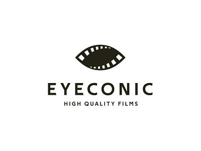 Eyeconic production sight film reel eye movie film identity branding mark symbol logo