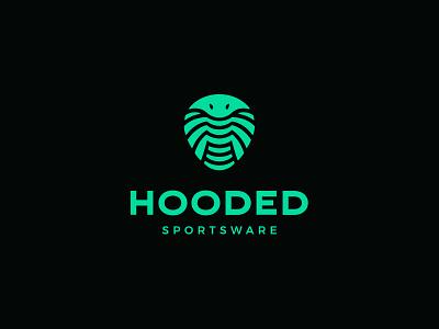 Hooded sportswear sport cobra snake animal negative space identity branding mark symbol logo