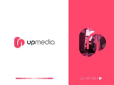 up media music player up monogram music app play music identity branding mark symbol logo