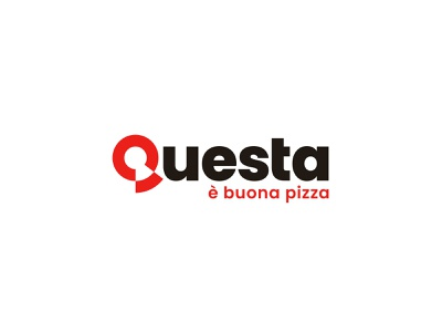 Questa è buona pizza! lettering typeface logotype italian food food and drink fastfood pizza food identity branding mark symbol logo