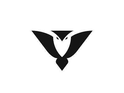 Owl night owl bird animal negative space identity branding mark symbol logo