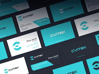 Cvitek Business Cards software machinelearning artificialintelligence businesscard identity branding mark symbol logo