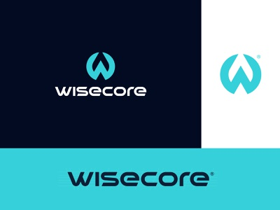 Wisecore learning core wise face recognition machinelearning artificialintelligence monogram identity branding mark symbol logo