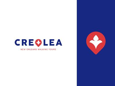 Creolea turism lettering logotype tours walking location identity branding mark symbol logo