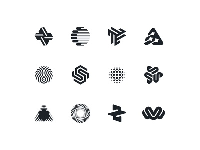 Abstract icons negative space logo abstract negative space identity branding mark symbol logo