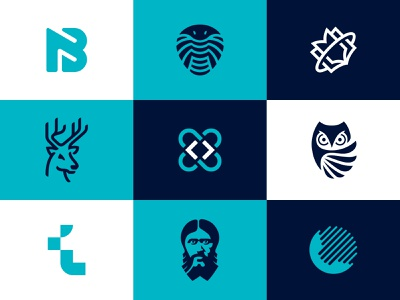 Top 9 of 2019 top art abstract top9 negative space animal identity branding mark symbol logo
