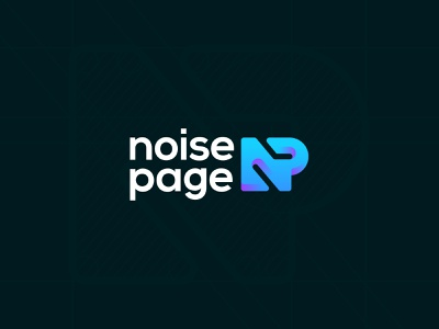 NoisePage lettermark monogram identity branding mark symbol logo