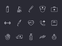 Icon Set - Medico app