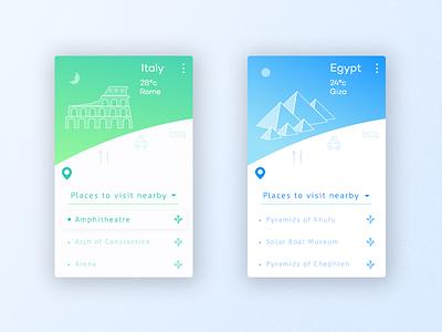 Travel App tour illustration mobile travel egypt italy line icon ios icons app design app android