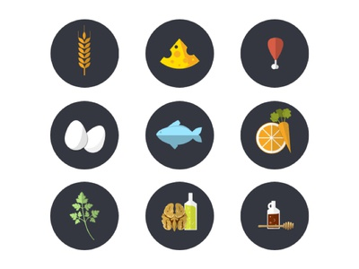 Food icons search interface ui icons design