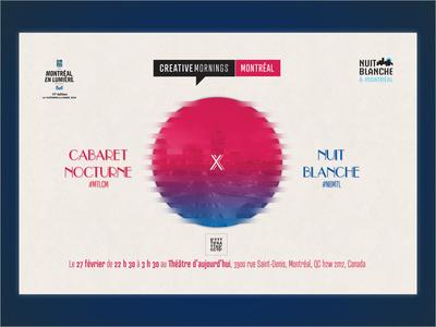 Poster - Nuit Blanche x Creative Mornings MTL poster socialmedia design ux