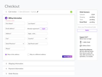 Checkout process - Step 2 checkout hardwork love design ux