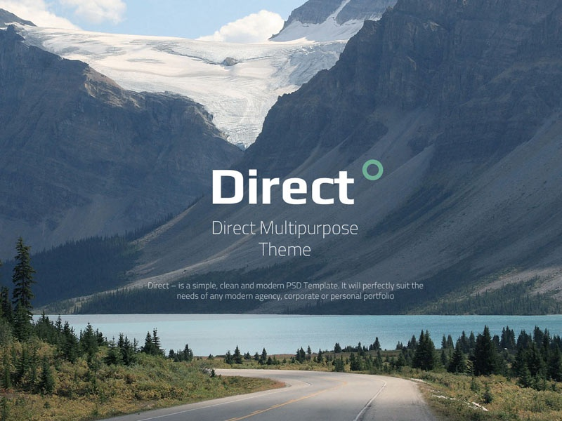 Direct Multi-purpose PSD Theme direct template ui ux creative direction