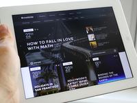 Alternative homepage layout