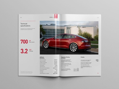 Technical Specifications page mistyukevych tesla editorial design catalog model s catalog technical specifications