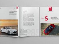 Tesla model s catalog concept