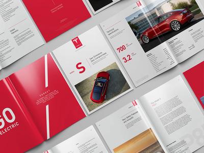Model S Catalog / Concept tesla editorial design catalog model s catalog mistyukevych studiosm