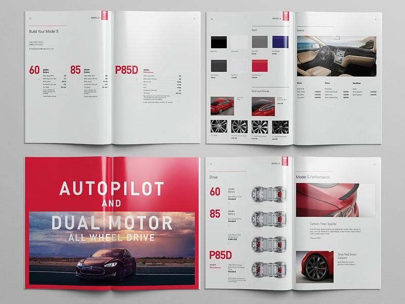 Model S Catalog pages tesla editorial design catalog model s catalog mistyukevych studiosm studiomst inner pages