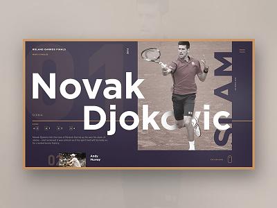 Roland Garros Finals / Men's singles idealui studiosm studiomst champion fitness type minimal concept ux ui design landing