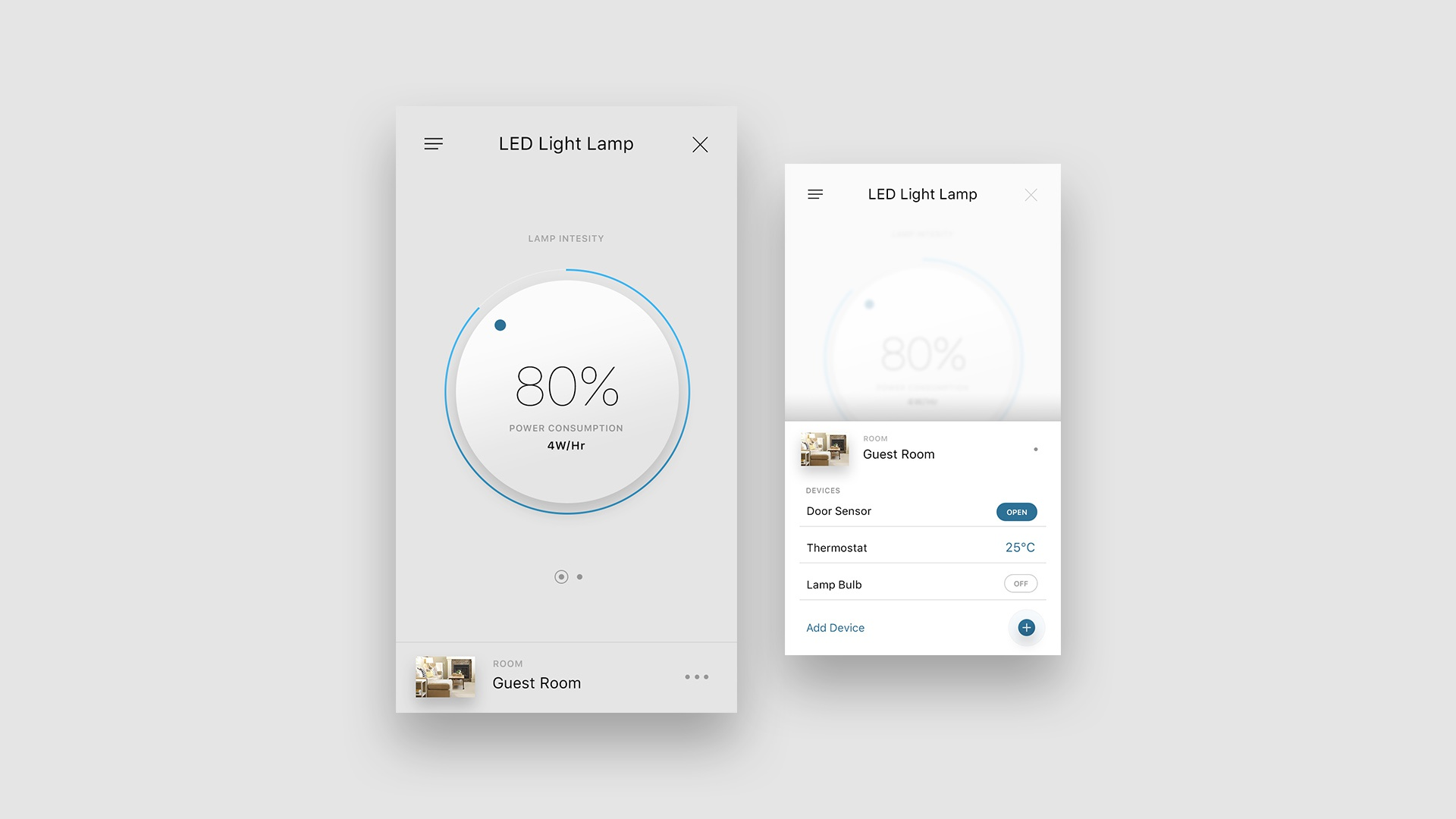 Smart home app led lamp control