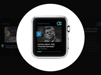 Today's learning / iWatch Application mistyukevych concept application clean ui black curiosity learning iwatch