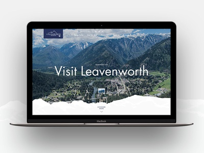 Visit Leavenworth studiomst mistyukevych website ux ui mountains minimal layout homepage design