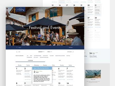Festival and Events / Calendar / Leavenworth mistyukevych grid website ui mountains layout homepage calendar