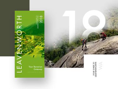 Leavenworth Rack Card 2018 mistyukevych minimal editorial print rack card leavenworth