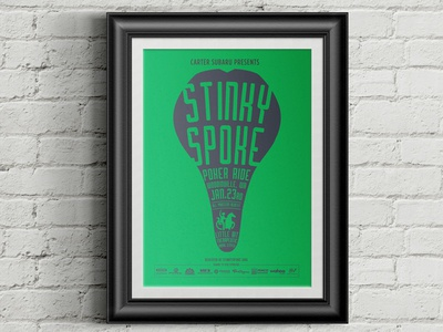 Stinky Spoke Poster
