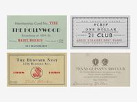 Speakeasy Membership Cards