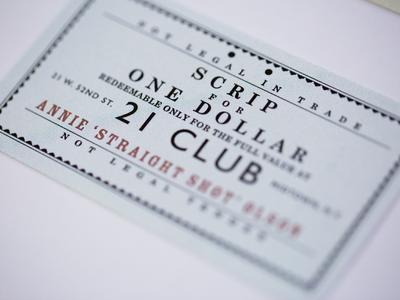 Membership Card Detail typography card 1920s identity event